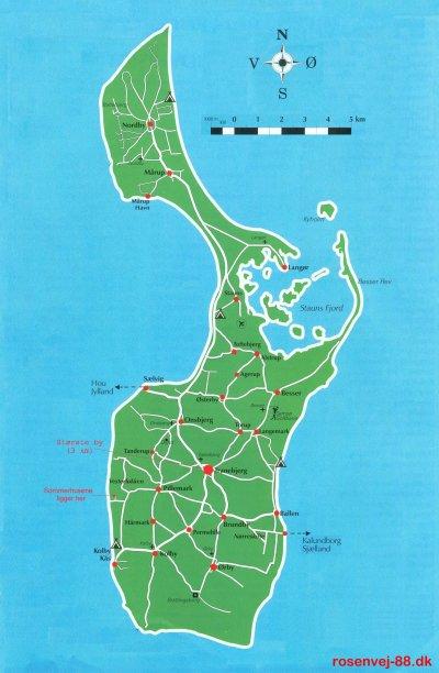 Samsokort Kort Over Samso